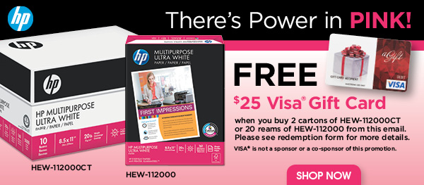 Free $25 Visa Gift Card with Purchase